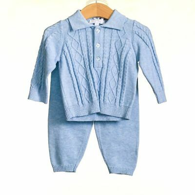 NEW gorgeous cable knit baby boys 3pc set by Zip ZAp , Spanish/Romany/Trad.