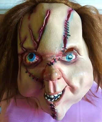 Vintage Don Post Chucky Mask Adult Full Head Paper Magic Halloween Costume