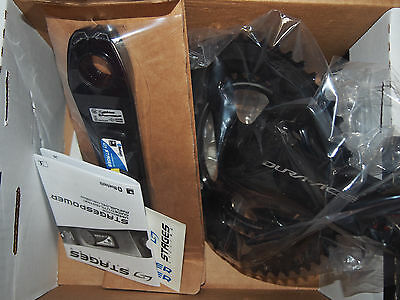 BNIB Stages Cycling Power Meter Dura Ace 9100 Crankset - 175 mm - 52/36