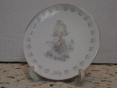 """Precious Moments """"Little Plate - July"""""""