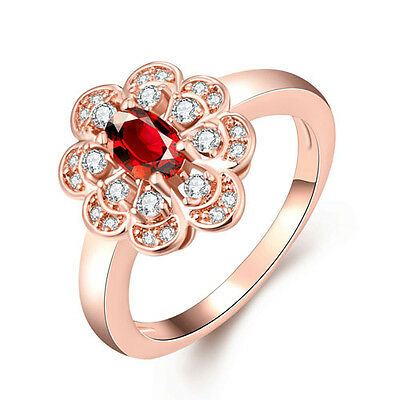 BBF279b7 Birthday Gift  Natural Ruby 1.40ct  Size US 7 14K Rose Gold ring