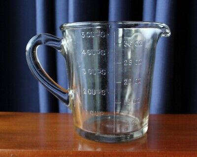 Great Vintage Kitchenalia Large Glass MEASURING JUG With IMPERIAL & METRIC