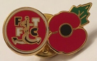 Fleetwood Town  Poppy New In Bag Football Pin Badge