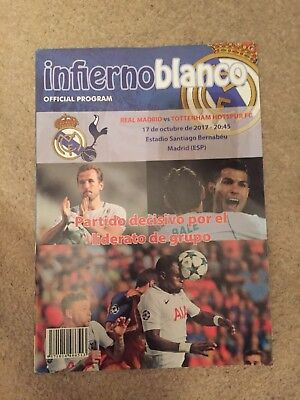 Real Madrid V Tottenham Spurs Champions League 17/10/2017