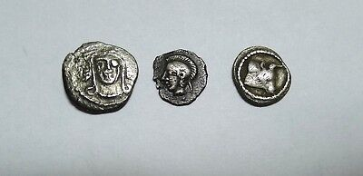 GROUP LOT! Greek. Lot of three (3) AR fractions. F/VF. See Pics and Description.