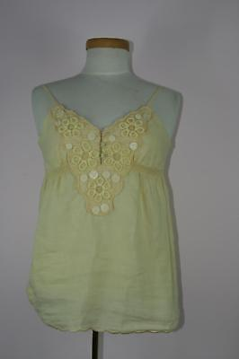 Miss Me MMT0081S Lemon Yellow Lace Up Ruffle Top