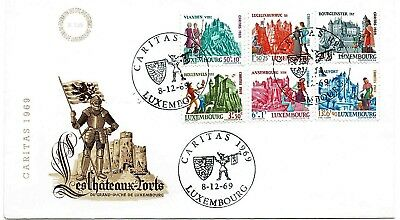 Luxembourg 1969 First Day Cover - Caritas H/s
