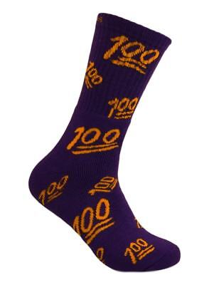 Swag Emoji Crew Socks - Purple/Gold - 2 Pairs - Sox World Inc.
