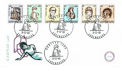 Luxembourg 1968 First Day Cover - Caritas H/s
