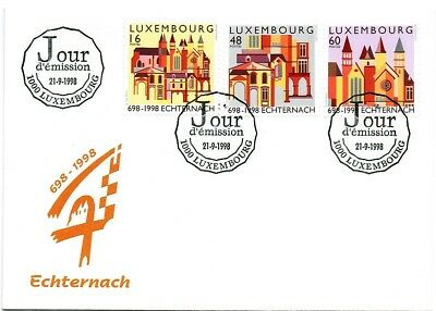 LUXEMBOURG 1998 1300th ANNIVERSARY OF ECHTERNACH ABBEY  FIRST DAY COVER