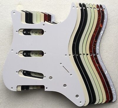 Stratocaster SSS Pickguard 8 hole US 50s style Strat various colours 1, 3, 4 ply