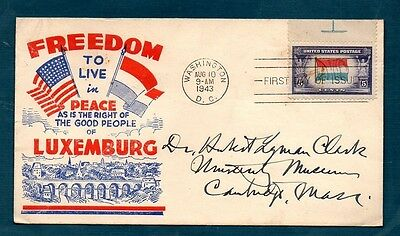 Usa -  Fdc   Luxemburg    Over Ran Countries   1943  -