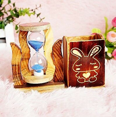 Exquisite Creative Wooden Wooden Pen Container Hourglass XY11110
