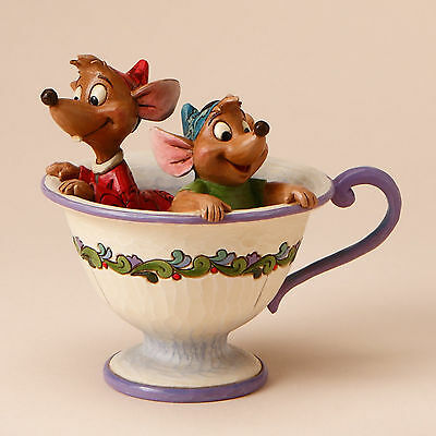 Enesco Disney Traditions Jim Shore Cinderella Jaq & Gus in Tea Cup 4016557