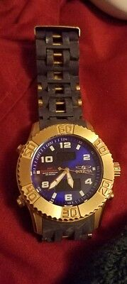 Invicta Sea Spider 50mm 24 k Rose  gold plated beautiful watch