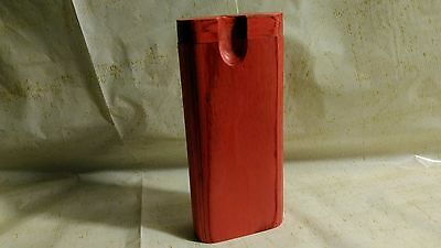 Handmade Red Wooden Dugout & Bat