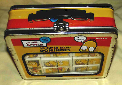 Simpsons Super Sized Dominoes Set With  Lunch Box