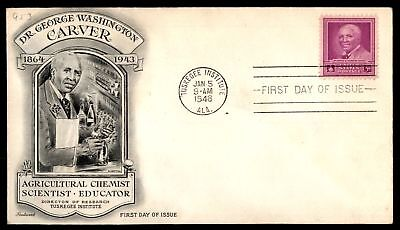 Mayfairstamps US FDC 1948 GEORGE WASHINGTON CARVER FLEETWOOD SC 953 SEALED