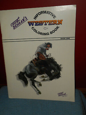 CHUCK DEHAAN'S Informative Western Coloring Book Vintage 1993 Giant Oversized Sc