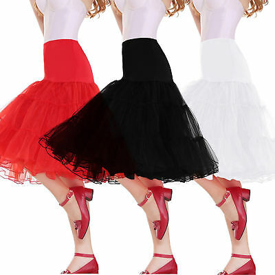 US Stock Ivory White Prom Dress Girls Short Crinoline Petticoat Tutu Skirt Slips