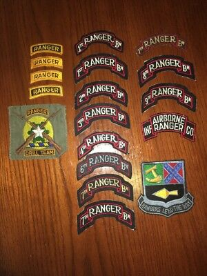 Post-WW2 US Army Rangers Patches Lot Of 18