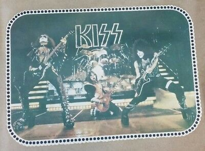 Vintage 70s KISS NOS t-Shirt Iron-On Transfer Concert Live on Stage 1978