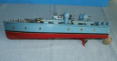 Vintage Ito Japan Toy Battery Powered Ww 2 Pt Boat W / Box Nos Excellent Works