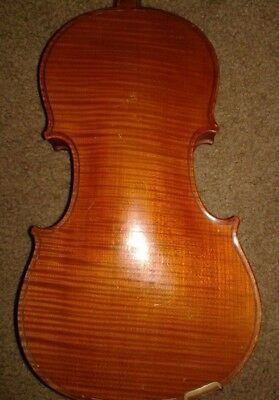 Vintage Antique Very Old Violin Full Size Czechoslovakia