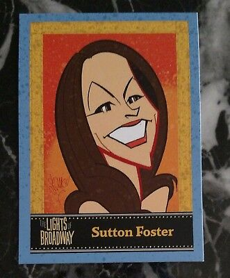 SUTTON FOSTER- Lights of Broadway show card- summer preview edition- VERY rare!!