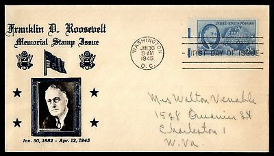 Mayfairstamps US FDC 1946 FRANKLIN D ROOSEVELT MEMORIAL STAMP US 5c ISSUE PHOTO