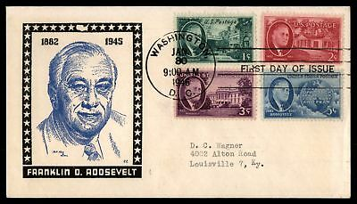 Mayfairstamps US FDC 1946 FRANKLIN D ROOSEVELT KEN BOLL CACHET  WITH COMBINATION