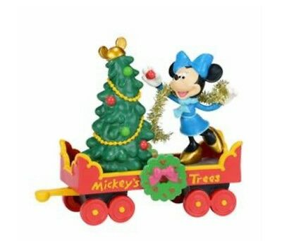 xmas Disney Dept 56 Mickey's holiday tree car Mickey's merry xmas village