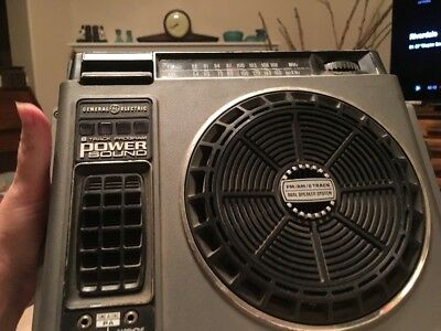 GE Power Sound Portable 8 Track Player Works