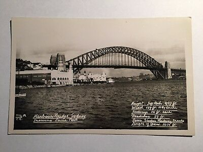 Sydney Harbour Bridge Luna Park New South Wales Postcard Mowbray Series