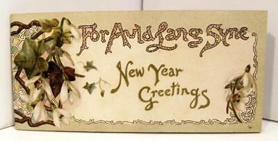 Vtg Raphael Tuck & Sons Auld Lang Syne New Year Greetings Lyric Book  Late 1800s