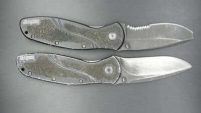 Lot of 2 Kershaw Blur Assisted Opening Knives - 1670BLK & 1670GBBLKST
