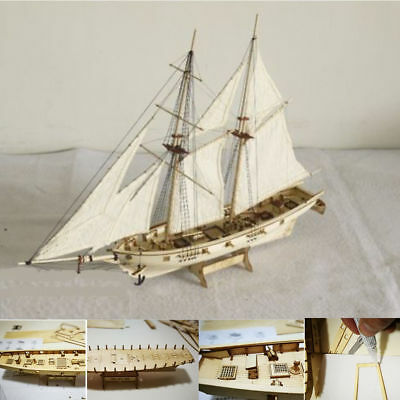 Boat Scale Wooden Wood Sailboat Ship Kits Home Model Decoration Blocks Gift Toy