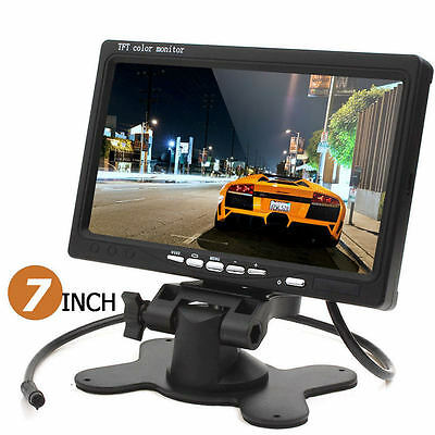 "7"" 2CH TFT LCD Screen Monitor For Car VCR Mobile DVR Camera+Wireless IR Remote"