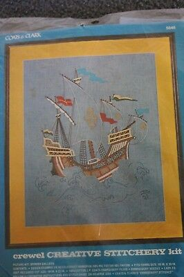 New  CREWEL EMBROIDERY KIT - The Spanish Galleon - ship