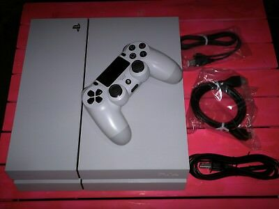 Sony PlayStation 4 500GB Glacier White Console with controller PS4 system
