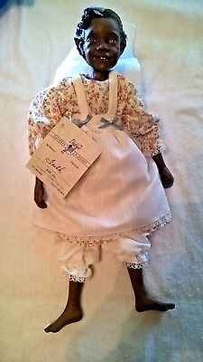 Daddy'S Long Legs Faith African American Black Doll 1993 Signed No Coa