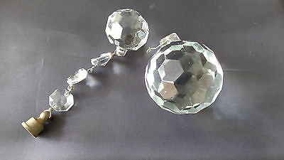 Lot Of 2 Vintage Chandelier Glass / Crystal Balls