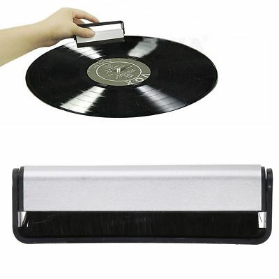Vinyl Record Brush Antistatic Carbon Fiber Dust Cleaner Turntable Cleaning /AU