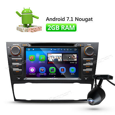 """7"""" Car Stereo DVD Player GPS Navigation Android 7.1 For BMW 3 Series HDMI +DVR A"""