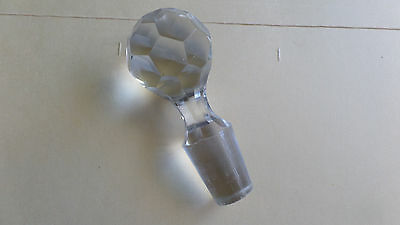 CUT GLASS BOTTLE STOPPER- For spare parts #7