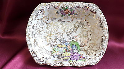 BCM NELSON WARE VICTORIAN PATTERN GOLD PATTERN DISH - Made in England