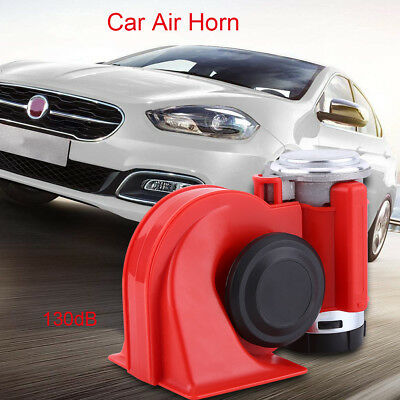 12V Car Truck Motor Dual Tone Air Horn Motorcycle Electric Pump 130dB Loudly AU