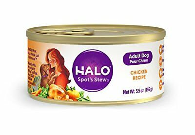 Halo Spot's Stew Holistic Wet Dog Food, Wholesome Chicken, 5.5 OZ of Can...
