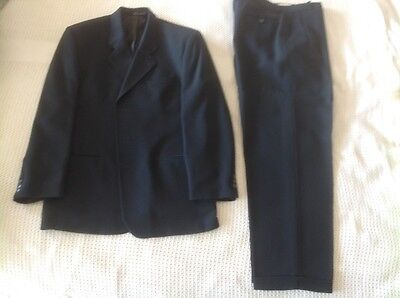 Suit - Cool wool-Single breasted-Aust made-Cloth from Italy-Teal -Baggy-Preowned