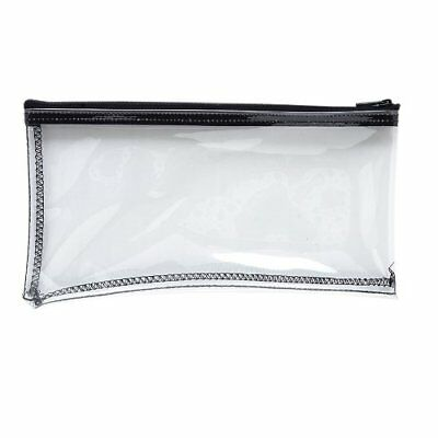 MMF Industries Vinyl Zipper Wallet 11 x 6 Inches Clear 234041720
